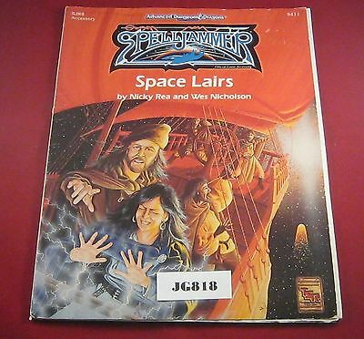 OOP AD&D 2nd Edition Spelljammer Accessory Space Lairs 9411 (TSR:1993) Ref JG818