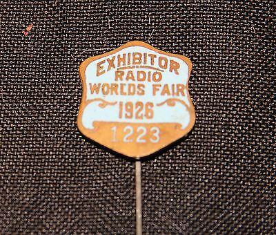 Philadelphia's 1926 Worlds Fair Exhibitor Pin
