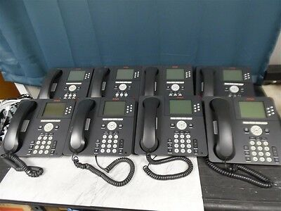 Lot of 8 Avaya 9630 VoIP Business Phones with stands and handsets!