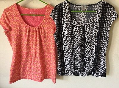 "Worthington & Merona Lot Of Two Women's Casual Tops Medium Size 36"" Bust"