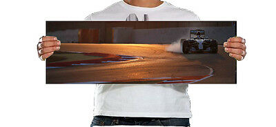 2015 Lewis Hamilton 30x10 Inch Canvas - Framed Picture F1 Poster - Mercedes