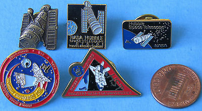 NASA PIN  LOT of 5 vtg HUBBLE Space Telescope 3B HST 1st Mission
