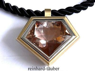 TRAUMHAFTES MORGANIT COLLIER  /   MORGANITE NECKLACE   750er / 18KT - 99,98ct