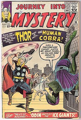 Journey Into Mystery #98, Marvel 1963 Vg Cond., Rk Collection 1St Human Cobra