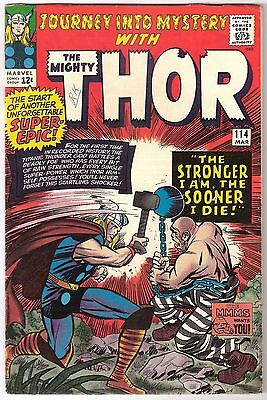Journey Into Mystery #114, Marvel 1965, Fn- Con, Rk Collection 1St Absorbing Man