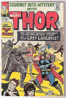 Journey Into Mystery #107, Marvel 1964 Vg+ Cond, Rk Collection 1St Grey Gargoyle