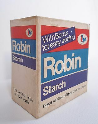 VINTAGE 60s 70s UNOPENED BOX/CARD PACKET OF ROBIN STARCH ADVERTISING/PACKAGING
