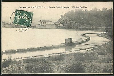 tolle AK St-Christophe, Le Bassin, Talsperre 1911