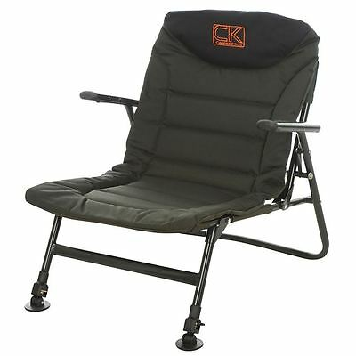 New CK Compact Deluxe Lo Chair With Arms Padded Carp Fishing Superlight RRP £60