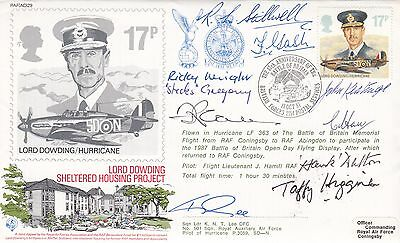 47th Anniv of Battle of Britain Signed 9  WW11 Fighter Pilot