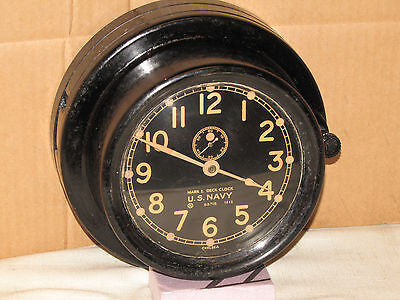 "Chelsea Antique Mk1 Deck Clock~Ser #486967~6"" Dial~1943~Ww2 U.s.navy~Restored"