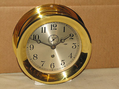 "Chelsea  Vintage Ships  Clock~6"" Dial~Korean War Era~1952~Restored"
