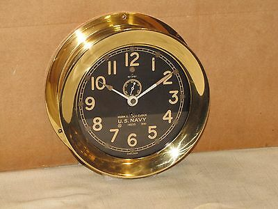 "Chelsea  Antique U.s.navy Ships Clock~Deck Clock#1~6"" Dial~1941~Ww2~Restored"
