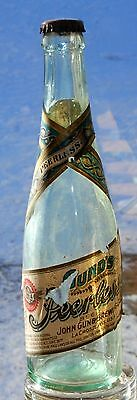 Pre-Pro Gund's Peerless Beer Bottle With 1906 Paper Label
