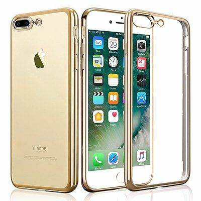 Electro Clear Gel Iphone 7 Plus Soft Cover Case Free Tempered Glass Gold 05