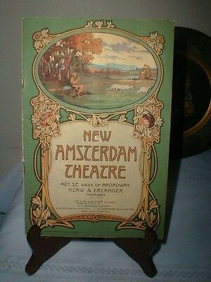 1918 Art Nouveau New Amsterdam Theatre Program Ziegfeld Follies Program