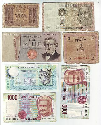 Bank Of Italy Small Collection Lire