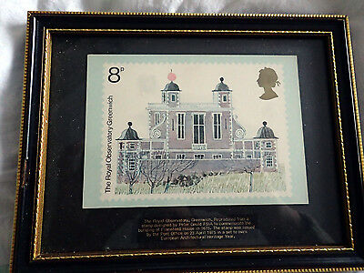 Framed Print Of The Royal Observatory Greenwich Stamp
