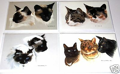 wrapped DW JUST 25p 6 designs x 6 PETS FINE ART CARDS x36 blank inside,