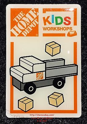 LMH PINBACK Pin Button LOAD 'N GO TRUCK Home Depot Kids Workshops Pickup Flatbed