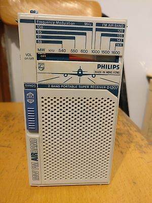 Philips D1207 Air Band/AM/FM Portable Radio Working Perfectly