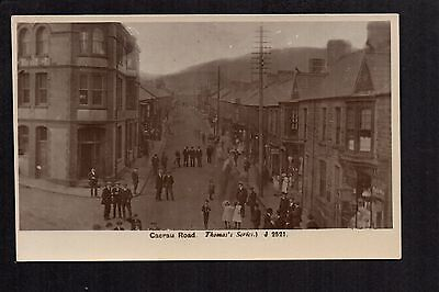 Maesteg - Caerau Road - real photographic postcard