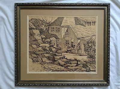 Original one of a kind  signed drawing by Glenn Gant (professionally framed )