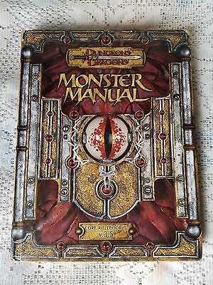 d20 Dungeons Dragons Monster manual Core Rulebook III V.3.5  hard cover d20