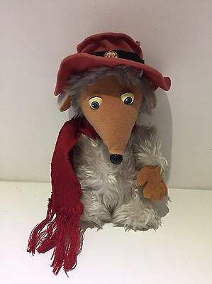 "10 "" Vintage Womble Orinoco Plush Soft Toy First Love 1998 Great Label Red Scarf"