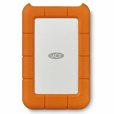 LaCie 2TB Rugged USB 3.0 Type-C Portable External Hard Drive STFR2000400