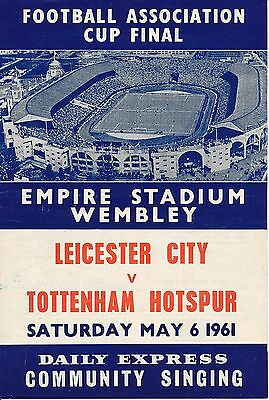 SONGSHEET: FA Cup Final 1961 Leicester City v Tottenham Hotspur - EXCELLENT