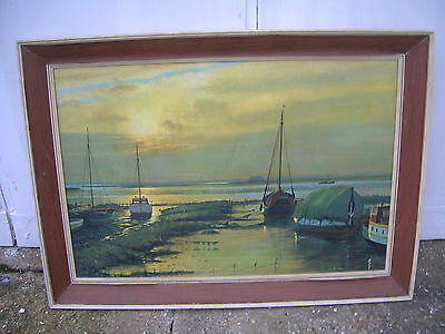 """VINTAGE 1960s LARGE PRINT/PICTURE.""""Eventide"""" By W.F Burton"""