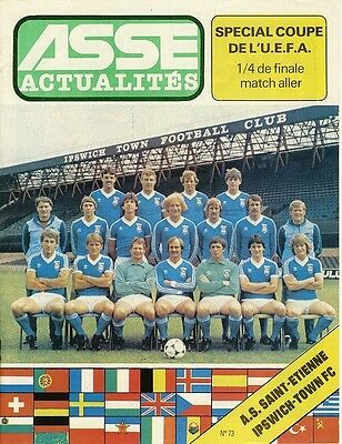 ST ETIENNE v Ipswich Town (UEFA Cup) 1980/1