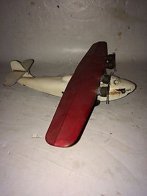 Vintage 1930s Pressed Steel China Clipper PAA Wyandotte Airplane Plane Toy Model