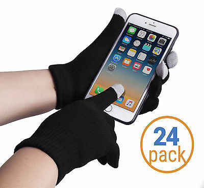 Wholesale 24 Texting Gloves Men - Touch Screen Gloves - Smartphone Gloves
