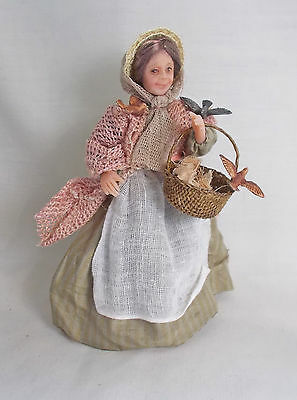 Dollhouse miniature BIRD LADY DOLL By ARTISAN Julie Campbell