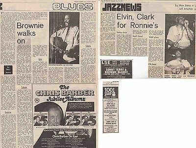 SONNY TERRY & BROWNIE McGHEE : CUTTINGS COLLECTION -adverts interview- 1975