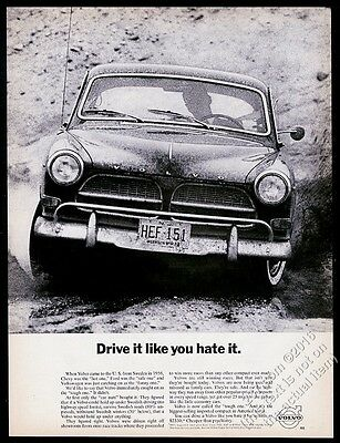 1964 Volvo 122 car photo Drive It Like You Hate It vintage print ad