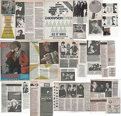 THOMPSON TWINS : CUTTINGS COLLECTION -adverts interviews-