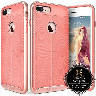 for iPhone 7 Plus, Rose Gold Case Girls Slim Luxury Pink Shockproof Bumper Cover