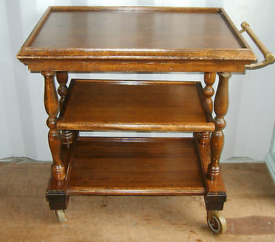 A Classic Antique / Vintage 3 Tier Buffet Trolley with lovely Brass Handle.