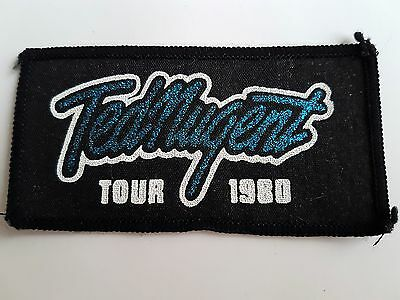 Ted Nugent Vintage Tour 1980 Printed Patch Heavy Metal Rock