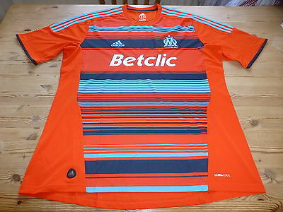 OLYMPIQUE MARSEILLE adidas FOOTBALL SOCCER SHIRT JERSEY TOP 2XL XXLARGE