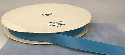 "100y SPOOL VTG 5/8"" PACIFIC BLUE, BLUE GREEN NYLON RIBBON"