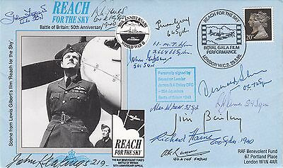 Battle of Britain Fighter cover Signed  17 Battle of Britain Pilots,Crew