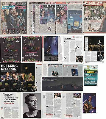 COLDPLAY : CUTTINGS COLLECTION -adverts interviews-