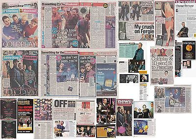 COLDPLAY : CUTTINGS COLLECTION -interviews adverts-