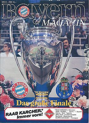 EUROPEAN CUP FINAL 1987 Porto v Bayern Munich - Bayern edition