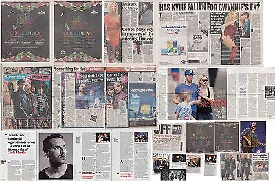 COLDPLAY : CUTTINGS COLLECTION -interviews adverts etc-