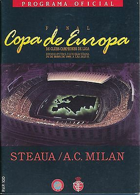 EUROPEAN CUP FINAL 1989 AC Milan v Steaua (Barcelona)